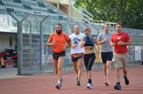 Me and some of my mates from CrossFit Lugano running our 5Km