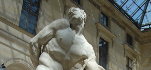 Milone di Crotone, Pierre Puget (Paris, Le Louvre)